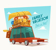 Family vacation. Vector illustration. - 68714070