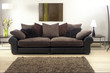 sofa in modern living room with rug - 68714082