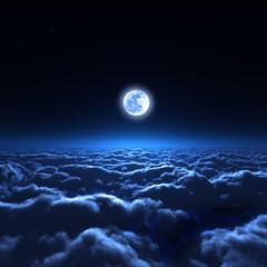 夜空と雲海
