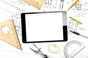 Tablet computer and engineering plan