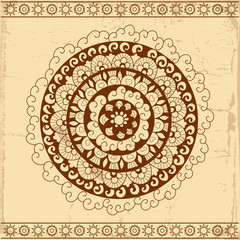 Decorative circle card background