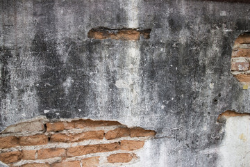 Old and dirty crack wall