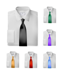 White folded shirts set