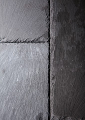 Textured background of slate tiles