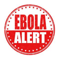 Ebola allert stamp