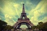 Eiffel Tower. Cross processed filtered tone.
