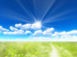 青空と光芒