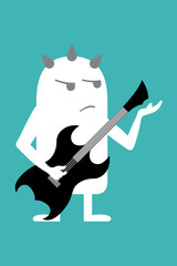 Animated personality rock star guitarist