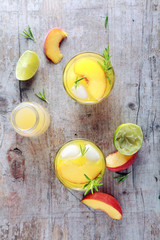 Natural Fruit Juices on Table