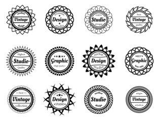Collection award stamp for design adn graphic studios
