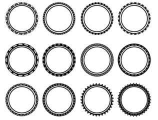 Beautiful black and white circle