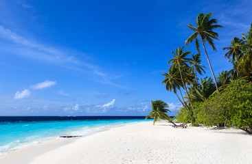 tropical beach in Maldives