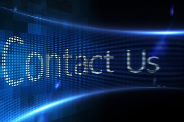 Contact us on digital screen