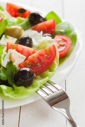 Leinwanddruck Bild Fresh healthy vegetarian diet