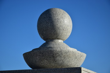 A decorative element made of granite