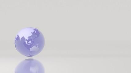 Drehender Globus vor Hintergrund