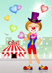 girl colwn in the circus