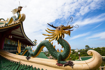 Dragon sculpture of the Taoist Temple in Cebu , Philippines