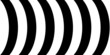 canvas print picture - Schwarze und weiße Bögen als Hintergrund