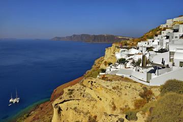 Santorini, Grecja, Oia, architektura wyspy
