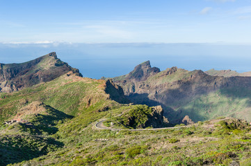 Mountain landscape at Tenerife island, Spain