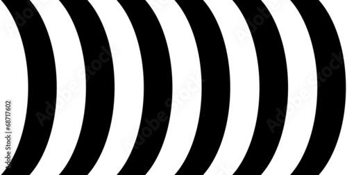 canvas print picture Schwarze und weiße Bögen als Hintergrund