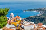 Fototapety Taormina town landscape.