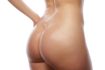 Beautiful buttocks of a nude woman