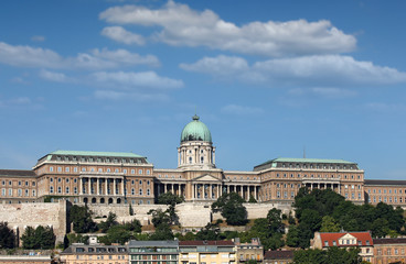 royal castle on hill Budapest
