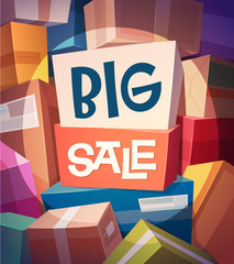 Big sale card \ poster design. Vector illustration.