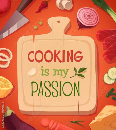 gotowanie-karty-projekt-plakatu-ilustracji-wektorowych