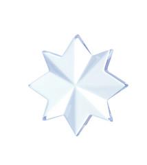 Star shape decoration isolated on white