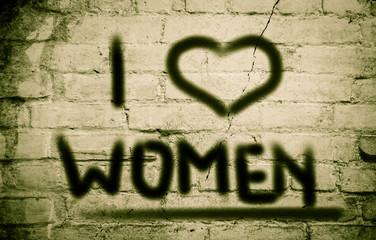 I Love Women Concept