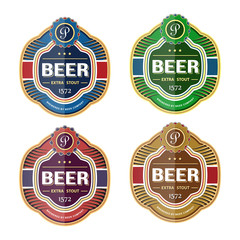 Green beer bottle label template