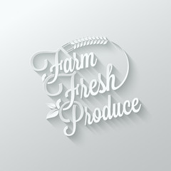 farm fresh cut paper lettering background