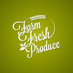 farm fresh vintage lettering background