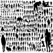 Set of people silhouettes - 68719499