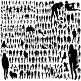 Fototapety Set of people silhouettes