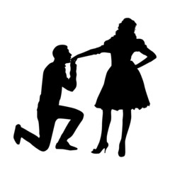 Hand Kiss Silhouette