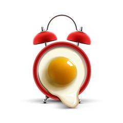 red alarm clock egg