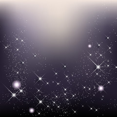 Elegant christmas background with stars and shines
