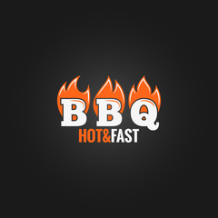 barbecue fire sign design background