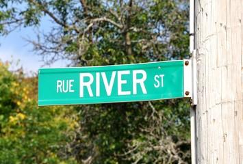 River street sign