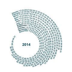 Spiral Calendar 2014
