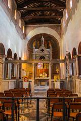 Interior of Santa Maria in Cosmedin in Rome, Italy
