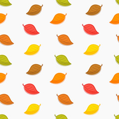 Seamless autumn leaves texture