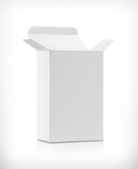 White carton box, vector illustration