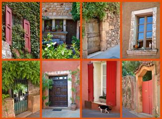 Carte Postale - Portes et fenêtres à Roussillon 01