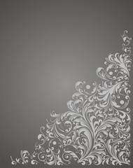 Black floral background vector