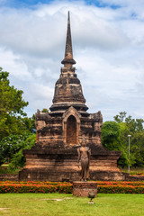 Wat Sa Si temple ruin in Sukhothai Historical Park, Thailand